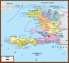 Политическая карта республики Гаити