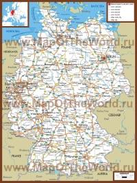 Автомобильная карта дорог Германии