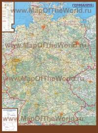 Подробная карта Германии на русском языке