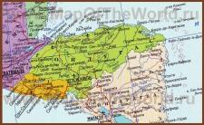 Подробная карта Гондураса на русском языке