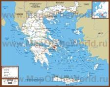 Автомобильная карта дорог Греции