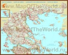 Подробная карта Греции с городами