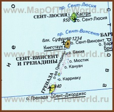 Карта Гренады на русском языке