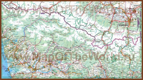 Автомобильная карта дорог Грузии