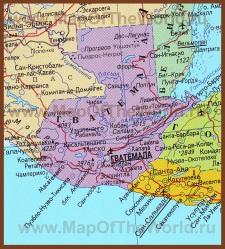 Карта Гватемалы на русском языке