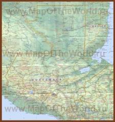 Подробная карта Гватемалы