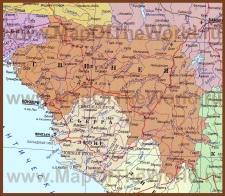 Карта Гвинеи на русском языке
