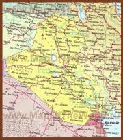 Карта Ирака на русском языке