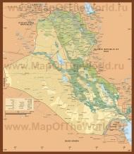Подробная карта Ирака