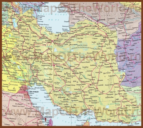 Карта Ирана на русском языке