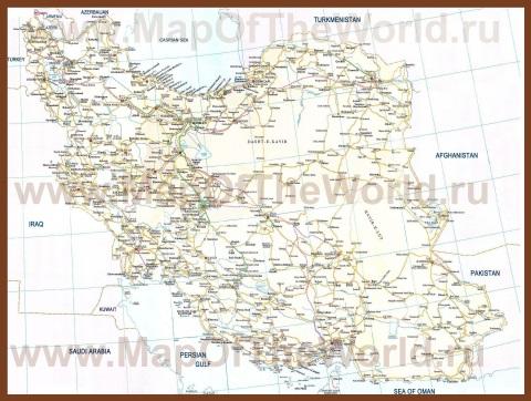 Подробная карта Ирана