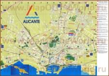 Подробная туристическая карта Аликанте