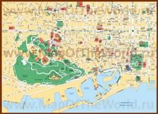 Карта города Барселона
