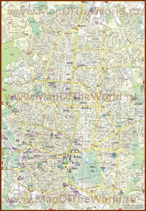 Подробная карта города Мадрид