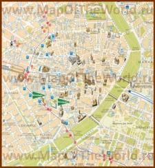 Туристическая карта Валенсии с отелями