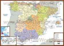 Политическая карта Испании