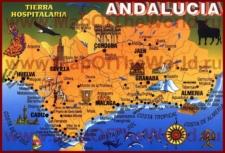 Туристическая карта Андалусии с курортами