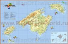 Туристическая карта балеарских