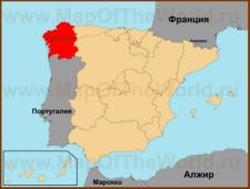 Галисия на карте Испании