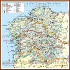 Туристическая карта Галисии