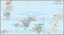 Туристическая карта Канарских островов