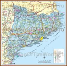 Карта дорог Каталонии с достопримечательностями