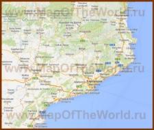 Подробная карта Каталонии с городами