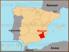 Мурсия на карте Испании