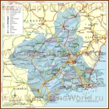 Подробная карта региона Мурсия