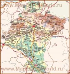 Подробная карта региона Наварра