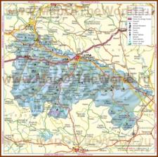 Подробная карта региона Риоха