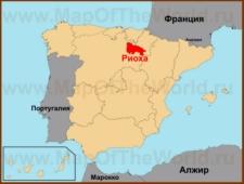 Риоха на карте Испании