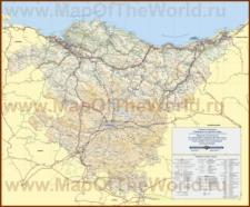 Подробная карта Страны Басков
