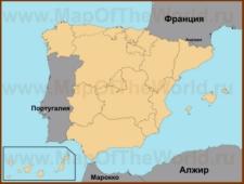 Валенсия на карте Испании