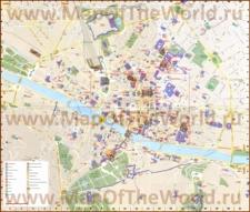 Карта Флоренции на русском языке с достопримечательностями
