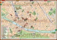 Туристическая карта Флоренции с достопримечательностями