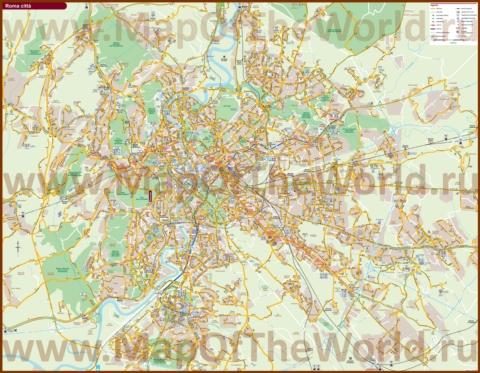 Карта маршрутов транспорта Рима