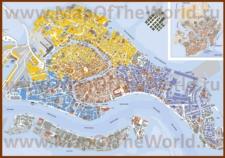 Подробная карта города Венеция