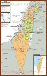 Политическая карта Израиля