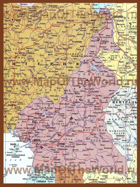 Карта Камеруна на русском языке