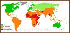 Уровень экономики на карте мира