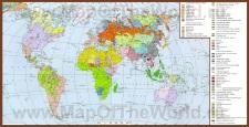Карта народов и языков мира