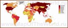 Карта численности действующих войск по странам мира
