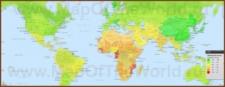 Карта IQ по странам мира