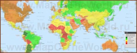 Самые красивые девушки по странам на карте мира