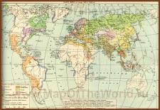 Историческая карта мира (на рубеже 17-18 веков)