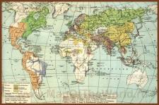 Историческая карта мира (середина 18 века)