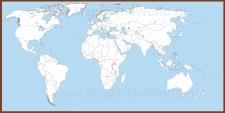 Политическая контурная карта мира