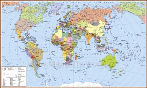 Страны на политической карте мира