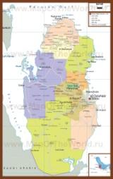 Подробная карта Катара